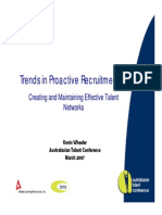 Trends in Proactive Recruitment