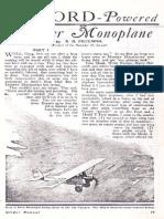 Ultralight Pietenpol Aircraft Plans
