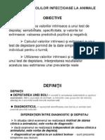 6. DEPISTAREA BOLILOR INFECŢIOASE LA ANIMALE - I