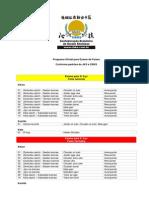 Programa Oficial Para Exame de Faixas