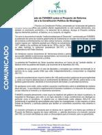 11 Comunicado Funides Sobre Reforma Constitucional Noviembre 2013
