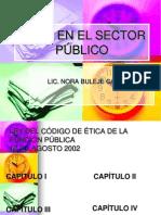 Etica en El Sector Publico