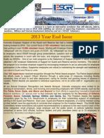 COESGR Newsletter December 2013