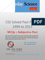 CSS Solved Everyday Science Past Papers - 1994 to 2013