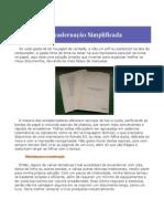texto - Encadernação Simplificada