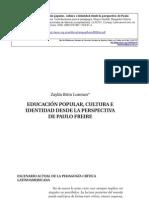 Edukación Popular, kultura e identidad desde la perspectiva de Paulo Freire - Zaylín Brito Lorenzo