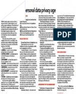 Ushering in a New Personal Data Privacy Age