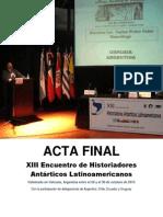 Acta Final XIII EHAL Ushuaia 2013