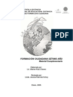 MATERIAL COMPLEMENTARIO  PARA EL LIBRO DE FORMACIÓN CIUDADANA. SÉTIMO. SEMANAS  3 y 4