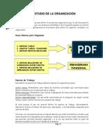 EL ESTUDIO DE LA ORGANIZACIÓN Y EL ESTUDIO AMBIENTAL