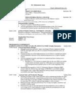 Mohammed Azam Resume/CV