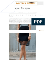 DIY Mesh Pencil Skirt