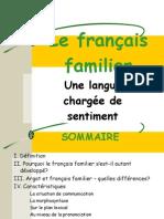 Le français familier