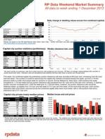 RP Data Weekend Market Summary Week Ending 2013 December 1