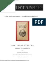 Wurmbrand Richard - Karl Marx Et Satan