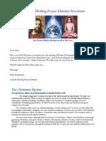 Healing Prayer Newsletter 2013 December