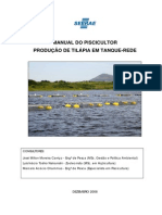 manual do piscicultor - Produção de tilapia em tanque rede - SEBRAE