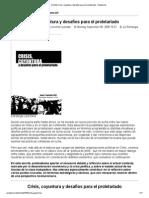 [Chile] Crisis, coyuntura y desafíos para el proletariado - Anarkismo