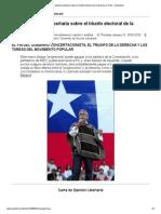 Carta de Opinión Libertaria sobre el triunfo electoral de la derecha en Chile - Anarkismo