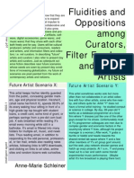 SCHLEINER. Fluidities and Oppositions Among Curators, Filter Feeders and Future Artists
