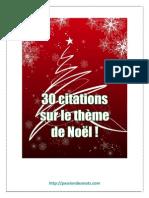 30 citations sur le thème de Noël