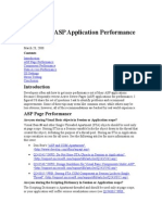 Improving ASP Application Performance