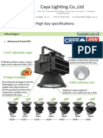 High Bay Light Specifications1