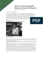 Clarice Lispector é homenageada com lançamento de livro de citações