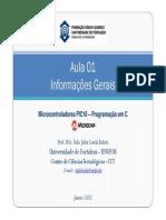 Aula 01 - InformaçSes Gerais