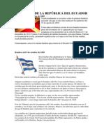 BANDERAS DE LA REPÚBLICA DEL ECUADOR