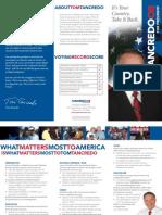 Tom Tancredo for President Brochure