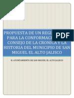 REGLAMENTO DEL CONSEJO DE LA CRÓNICA Y LA HISTORIA DE 2