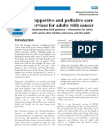 supportive and palliative therapy