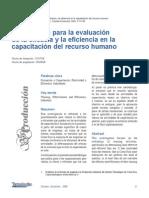 Metodologia Evaluacion Eficacia Eficiencia Capacitacion