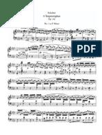 Schubert 4 Impromptus, Op 142