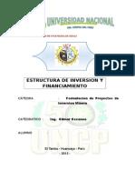 Estructura de Inversion y Financiamiento