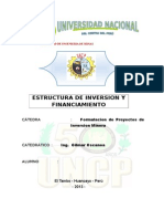Estructura de Inversion y Financiamiento