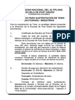 Requisitos Para Sustentacion de Tesis