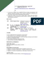 Resume of Mohammad Badiul Islam November 2013
