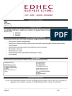 Edhec Application Form Checklist 2014 2015 1378300665274 PDF