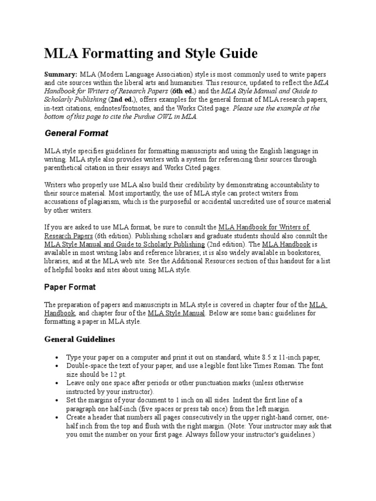 mla research paper style guide Mla (modern language association) style is most commonly used to write papers and cite sources within the liberal arts and humanities this resource, updated to reflect the mla handbook for writers of research papers (7th ed) and the mla style manual and guide to scholarly publishing (3rd ed), offers examples for the general format of mla research papers, in-text citations, endnotes .