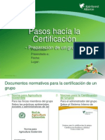 Pasos Hacia La Certificacion de Grupo Presentation Spa