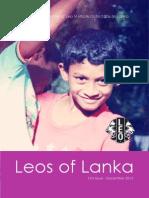 Leos of Lanka - Newsletter of Leo Multiple District 306 Sri Lanka - First Issue
