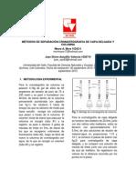 MÉTODOS DE SEPARACIÓN CROMATROGRAFIA DE CAPA DELGADA Y COLUMNA