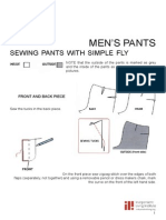 Sewing Pants With Simple Fly 4pages