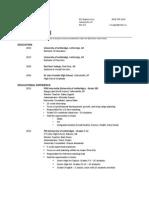 educational resume 2013