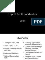 10 AP Econ Mistakes