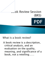 Book Review Session (BRS)