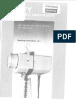 Electric Chain Hoists Manual