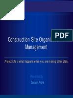 Construction Site Organisation Management